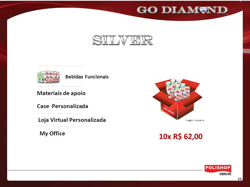 Loja Virtual Personalizada My Office Bebidas Funcionais Materiais de apoio Case Personalizada 10x R$ 62,00 Imagem ilustrativa