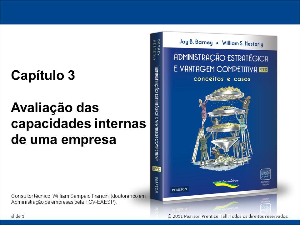 Copyright © 2010 Pearson Education, Inc. publishing as Prentice Hall. 3-1 Avaliação das capacidades internas de uma empresa Capítulo 3 Avaliação das c