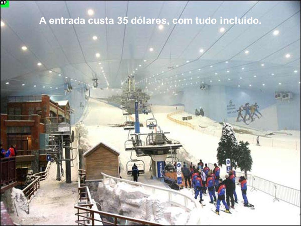 Ski Dubai tem 5 encostas que variam em grau de dificuldade e altura. A mais larga tem 400 metros e uma descida de 60 metros.