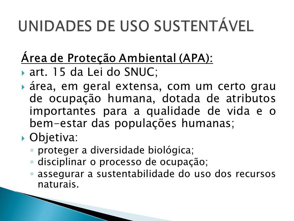 Área de Proteção Ambiental (APA):  art.