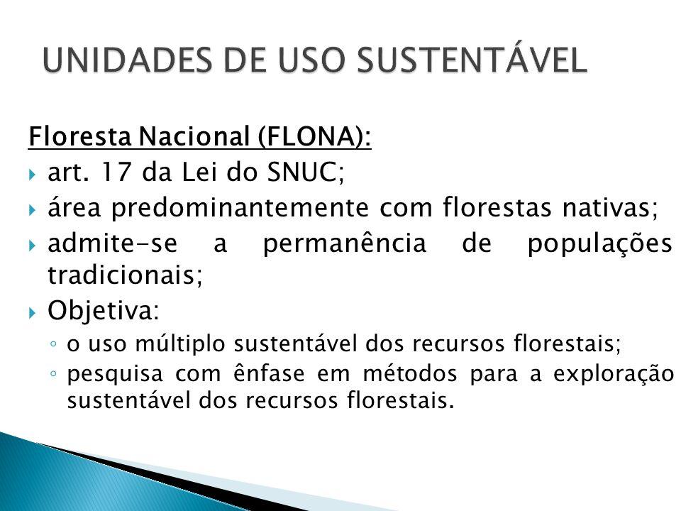 Floresta Nacional (FLONA):  art.