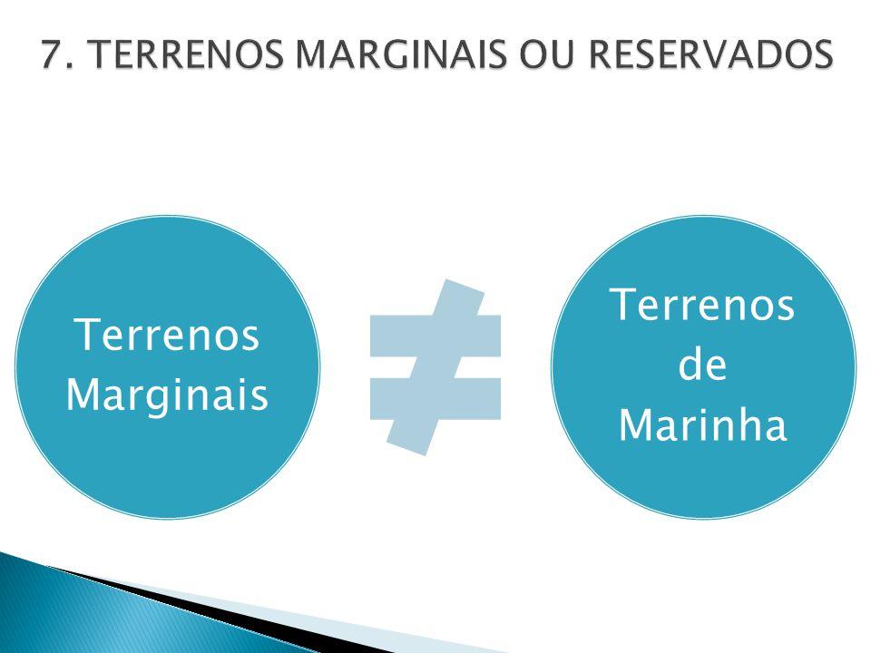 Terrenos Marginais Terrenos de Marinha