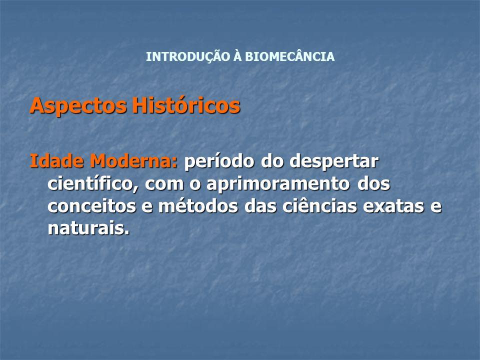 Aspectos Históricos Idade Moderna: período do despertar científico, com o aprimoramento dos conceitos e métodos das ciências exatas e naturais. INTROD