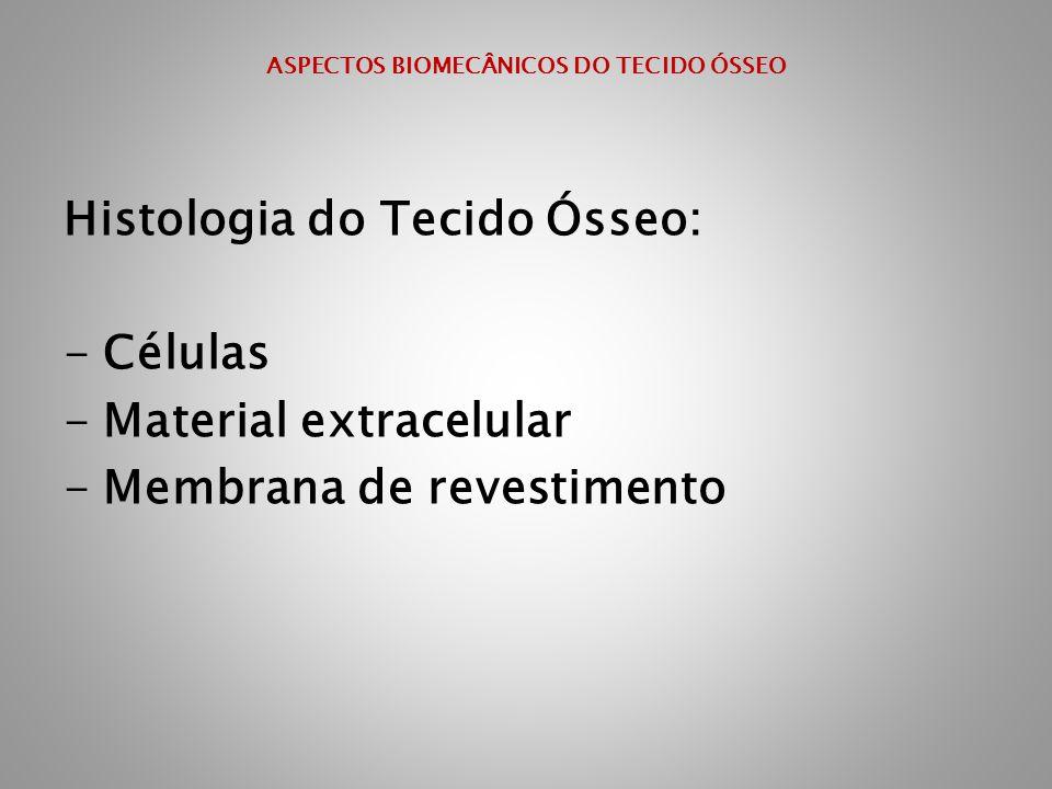 Histologia do Tecido Ósseo: -Células -Material extracelular -Membrana de revestimento