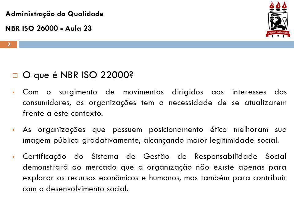 2  O que é NBR ISO 22000.