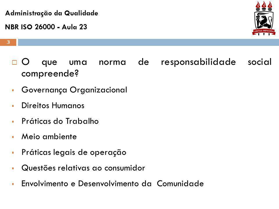 3  O que uma norma de responsabilidade social compreende.