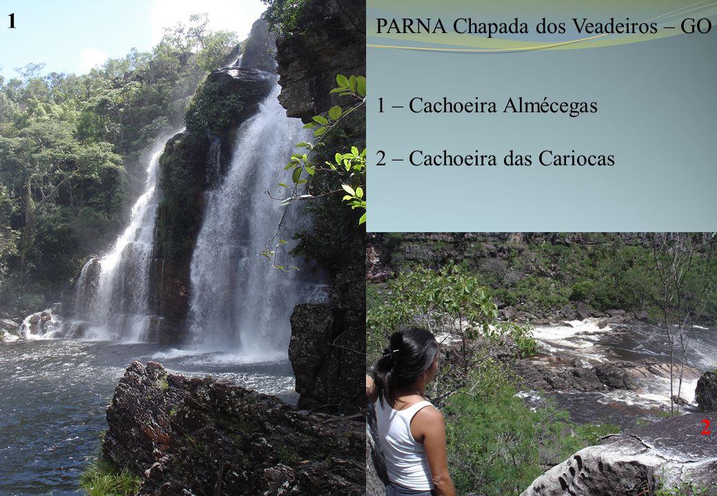 PARNA Chapada dos Veadeiros – GO 1 – Cachoeira Almécegas 2 – Cachoeira das Cariocas 1 2
