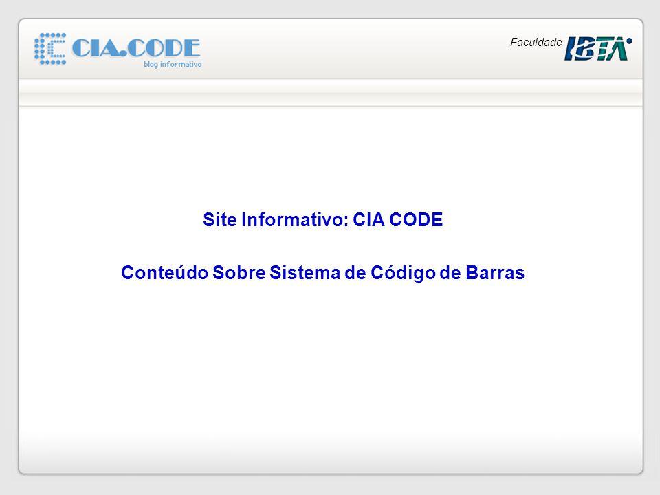 Faculdade Site Informativo: CIA CODE Conteúdo Sobre Sistema de Código de Barras