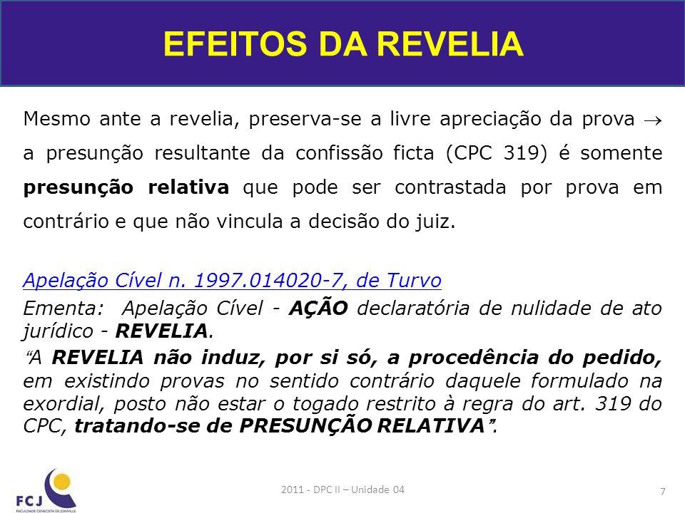 PROCEDIMENTO SUMÁRIO: CPC: Art.277.