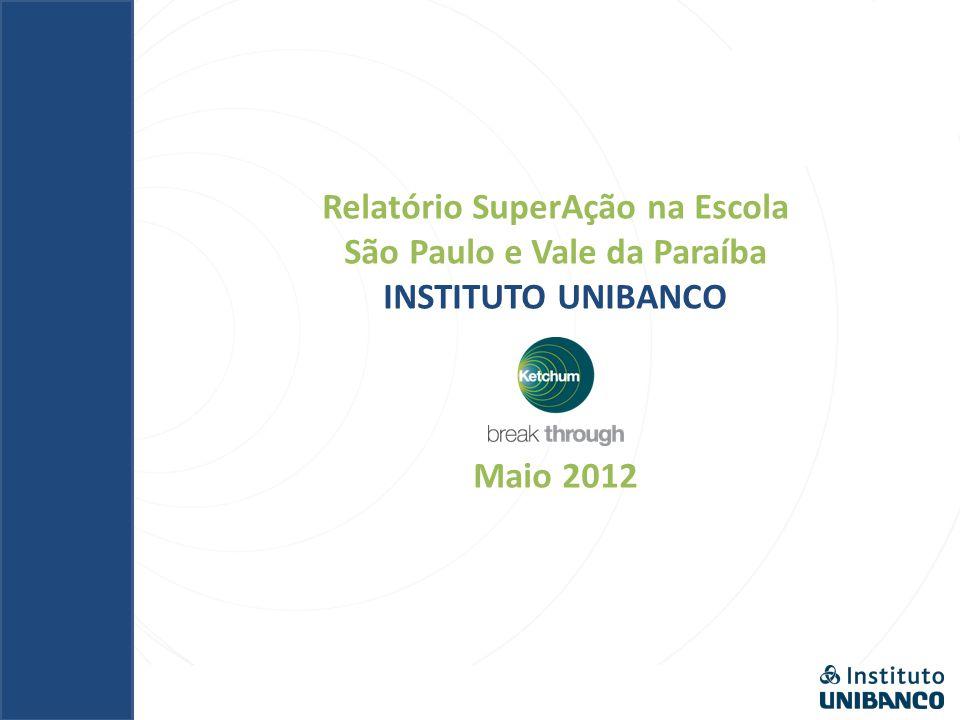 Relatório SuperAção na Escola São Paulo e Vale da Paraíba INSTITUTO UNIBANCO Maio 2012