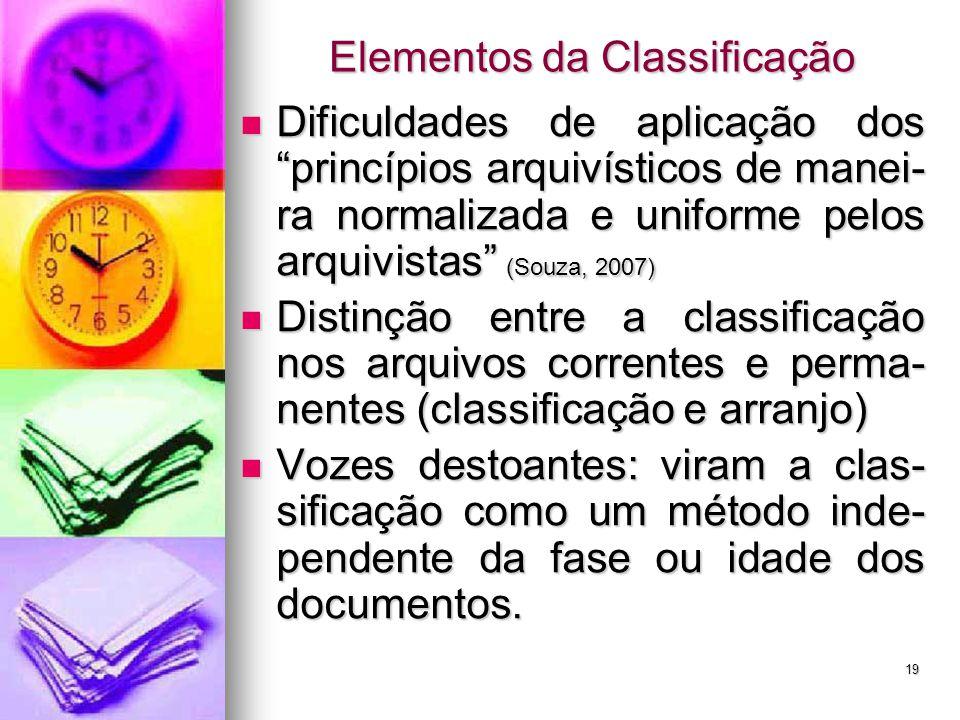 """Dificuldades de aplicação dos """"princípios arquivísticos de manei- ra normalizada e uniforme pelos arquivistas"""" (Souza, 2007) Dificuldades de aplicação"""