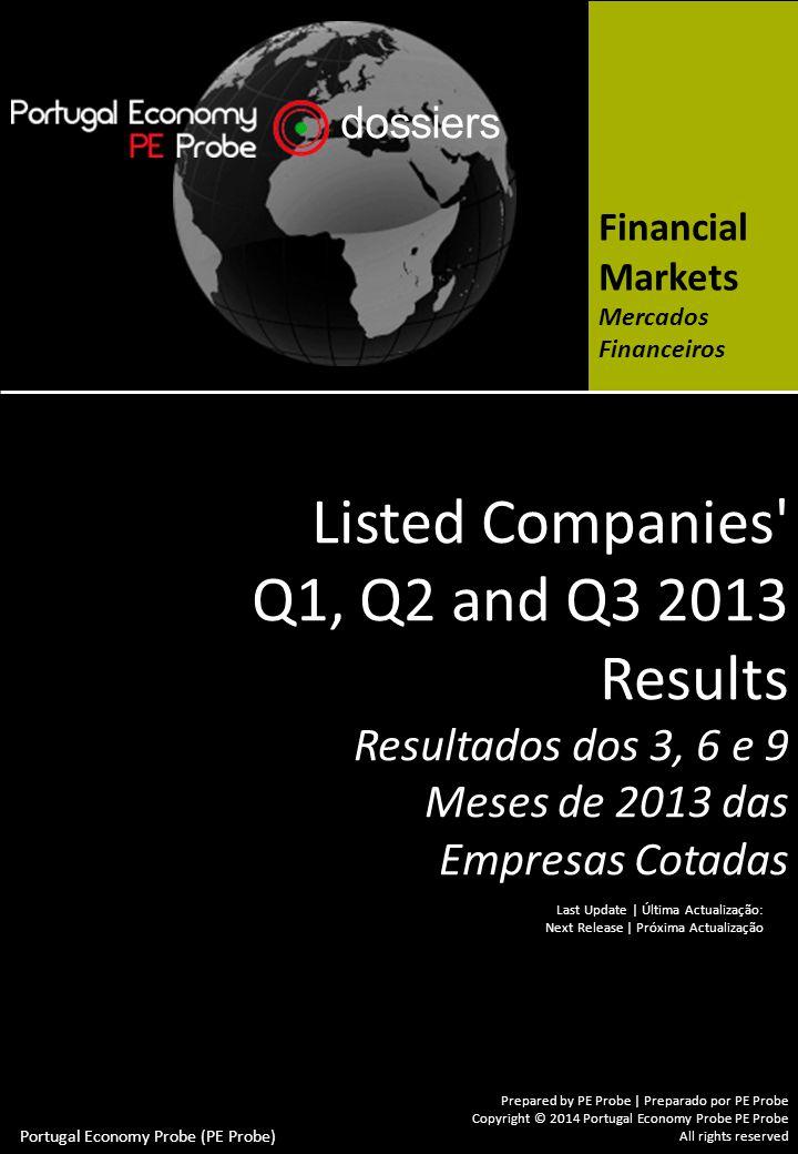Capital Markets Overview / Mercados Financeiros Resumo Mercados Financeiros Listed Companies Q1, Q2 and Q3 2013 Results Resultados dos 3, 6 e 9 Meses de 2013 das Empresas Cotadas © Portugal Economy Probe (PE Probe) VI.