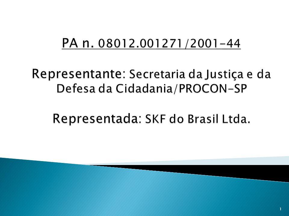 Denúncia anônima recebida pelo Procon/SP subsequentemente encaminhada à SDE, em fevereiro de 2001.
