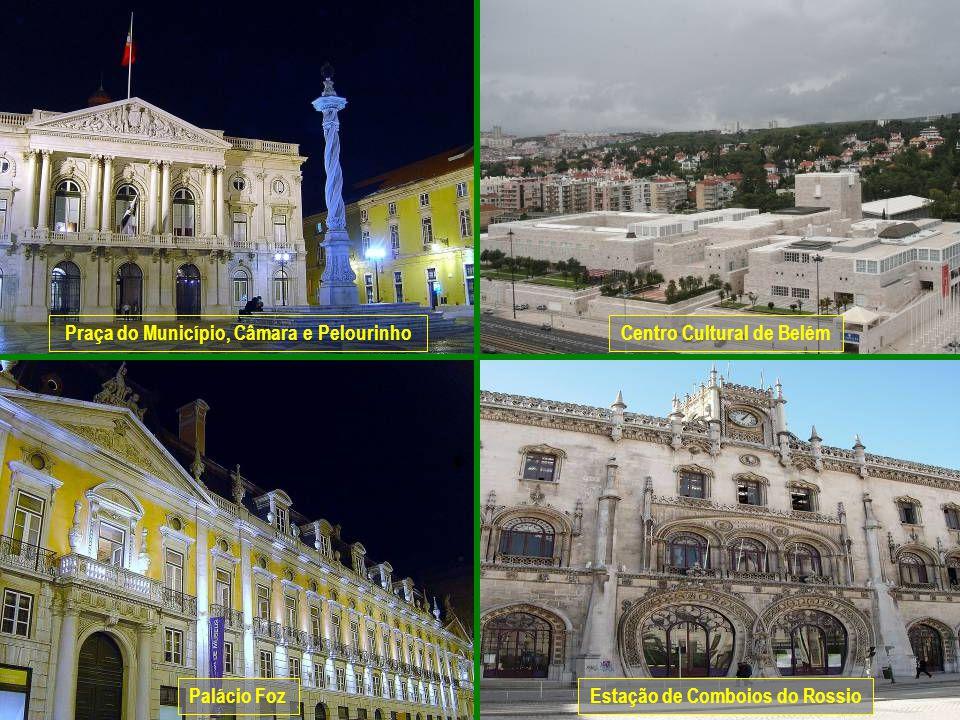 www.vitanoblepowerpoints.net Praça do Município, Câmara e PelourinhoCentro Cultural de Belém Palácio FozEstação de Comboios do Rossio