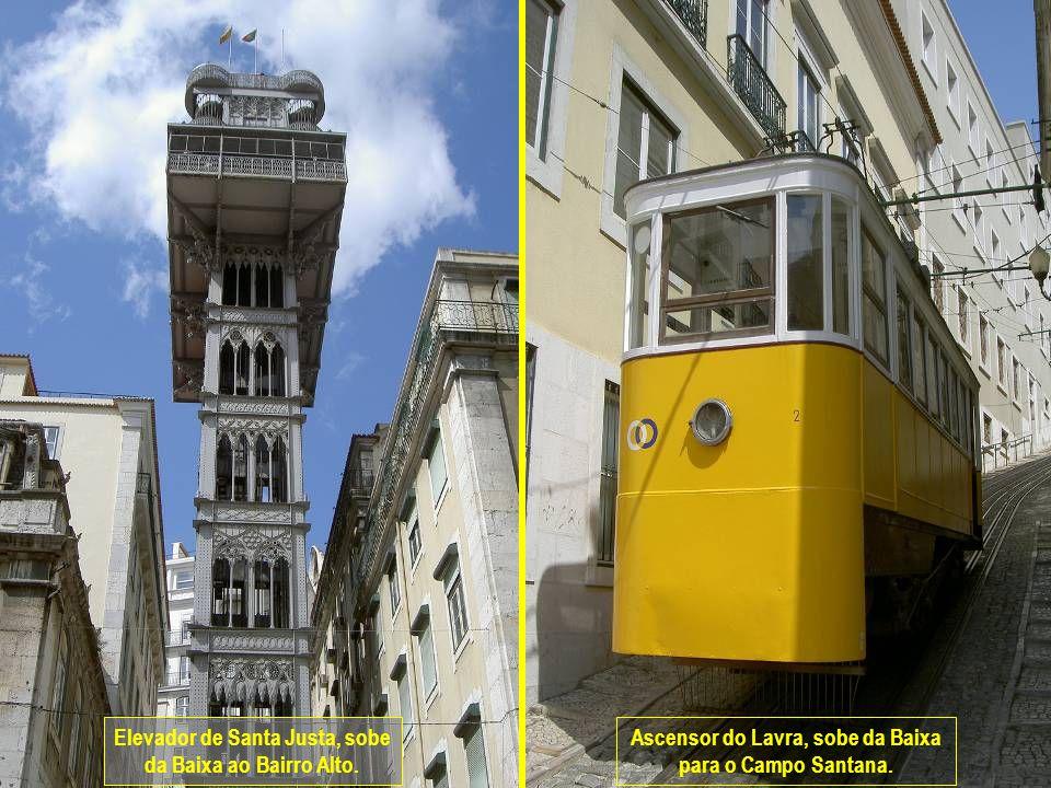 www.vitanoblepowerpoints.net Elevador de Santa Justa, sobe da Baixa ao Bairro Alto.