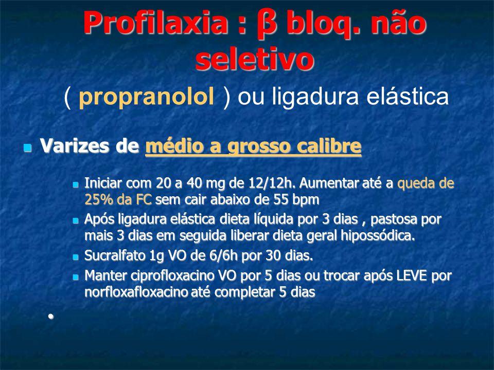 Profilaxia : β bloq.