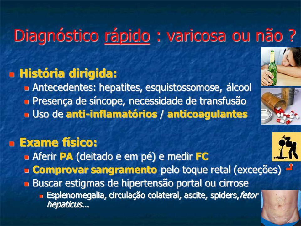 Diagnóstico rápido : varicosa ou não .