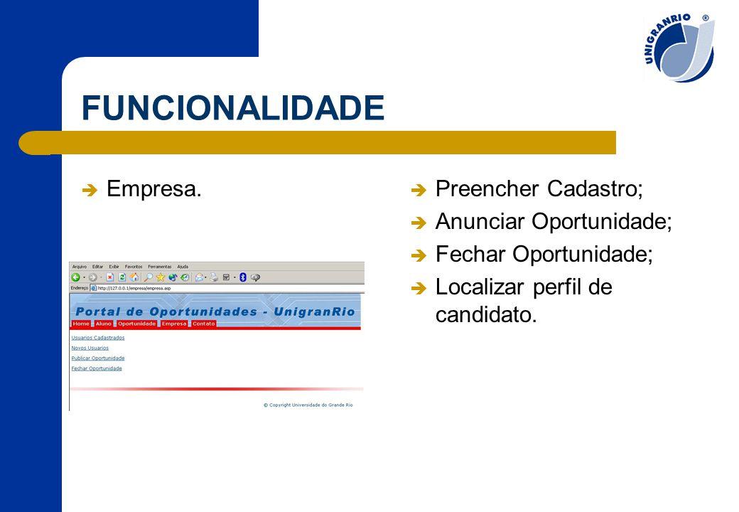 FUNCIONALIDADE  Empresa.