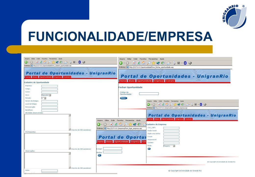 FUNCIONALIDADE/EMPRESA
