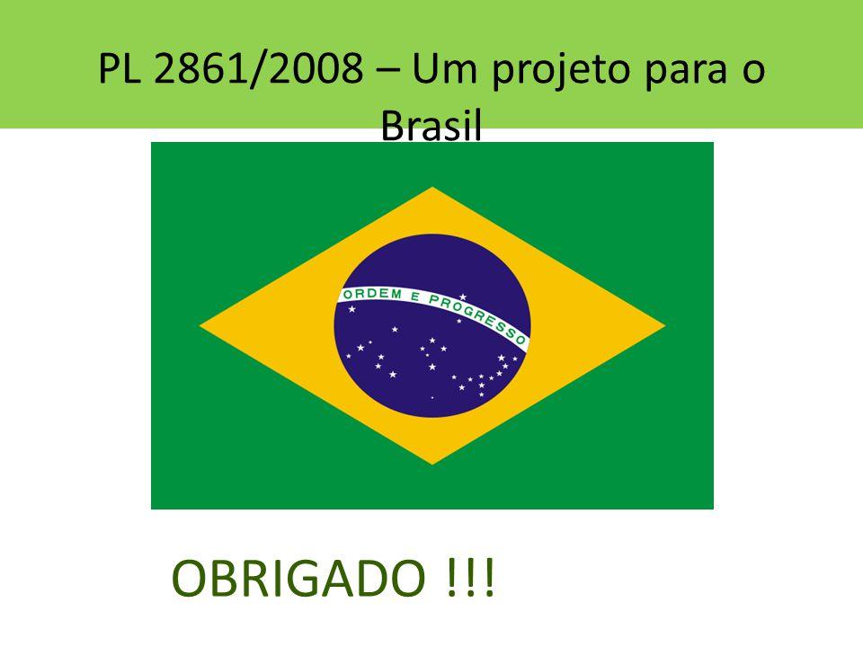 PL 2861/2008 – Um projeto para o Brasil OBRIGADO !!!