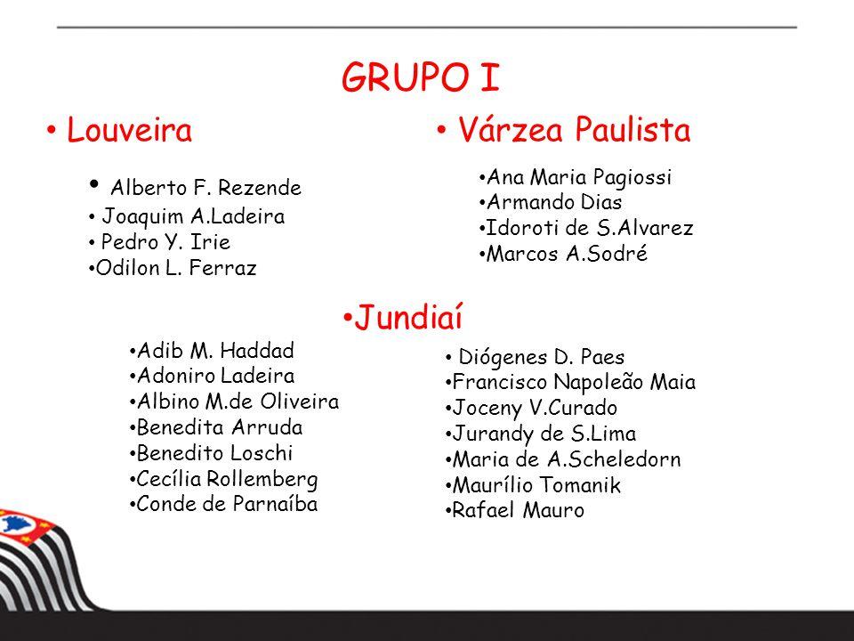 GRUPO I Louveira Alberto F.Rezende Joaquim A.Ladeira Pedro Y.