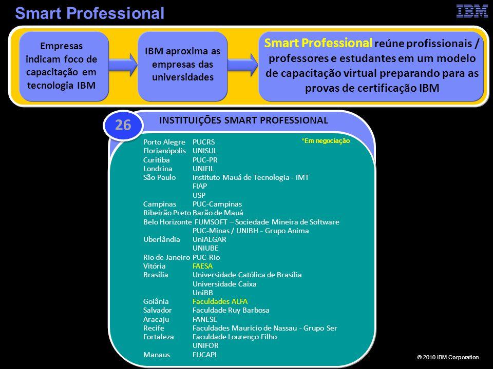 © 2010 IBM Corporation ibm.com/br/developerworks/smartprofessional