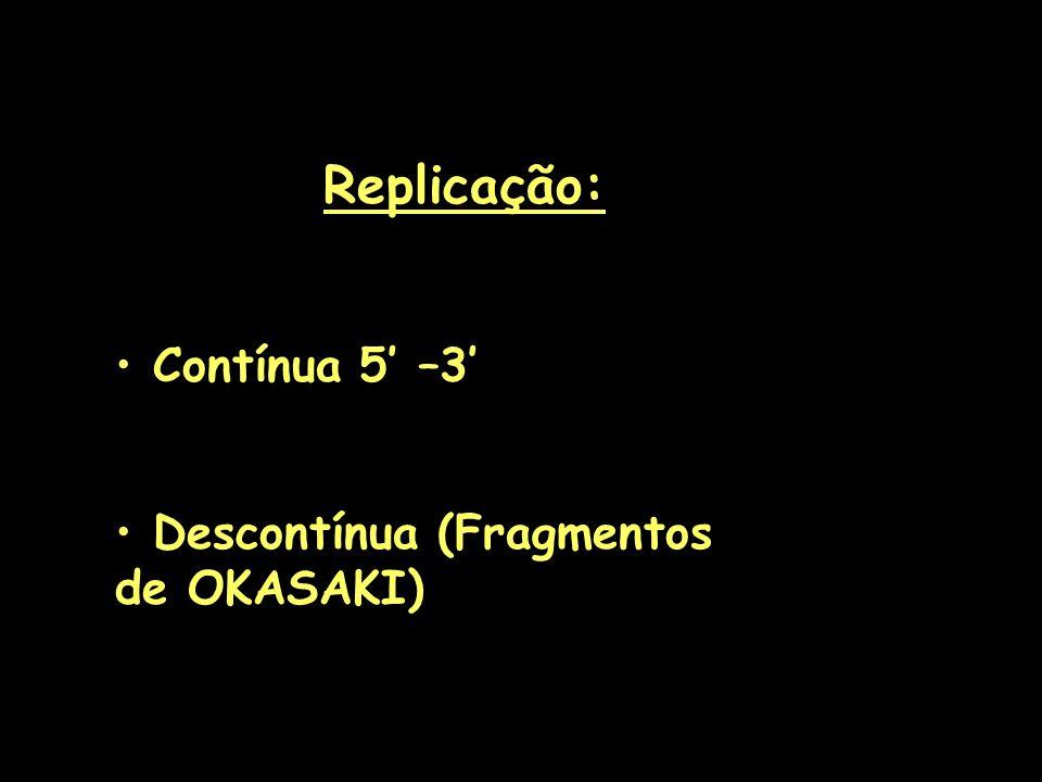 Começa em sítios específicos (Ricos em A e T Eucarioto: ~30.000sítios por cromossoma Procarioto: Único sítio (OriC)
