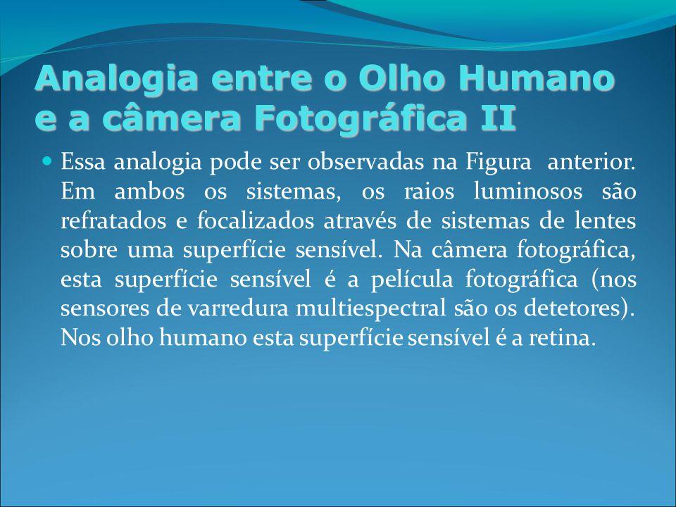 Analogia entre o Olho Humano e a câmera Fotográfica II Essa analogia pode ser observadas na Figura anterior.