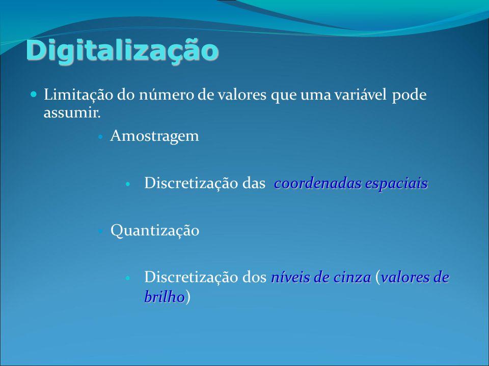 Digitalização Limitação do número de valores que uma variável pode assumir.