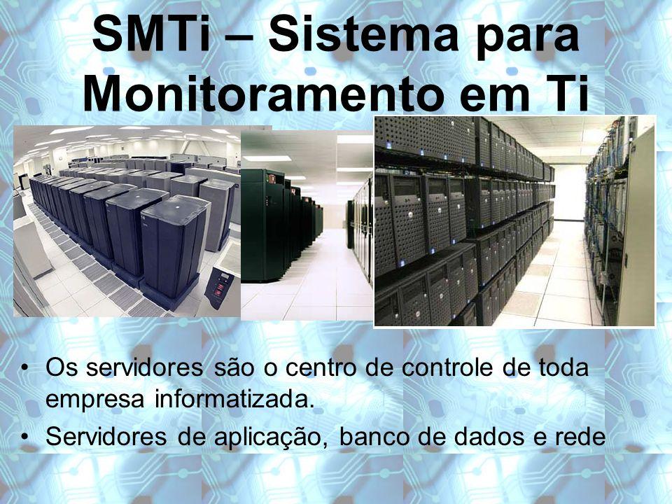 SMTi – Sistema para Monitoramento em Ti Os servidores são o centro de controle de toda empresa informatizada. Servidores de aplicação, banco de dados