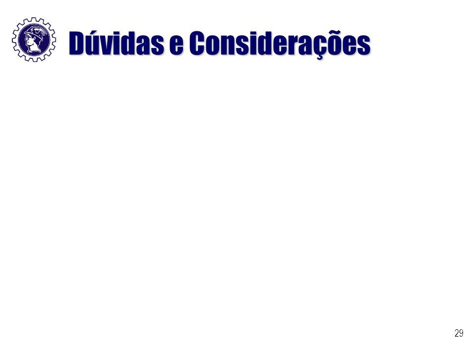 29 Dúvidas e Considerações