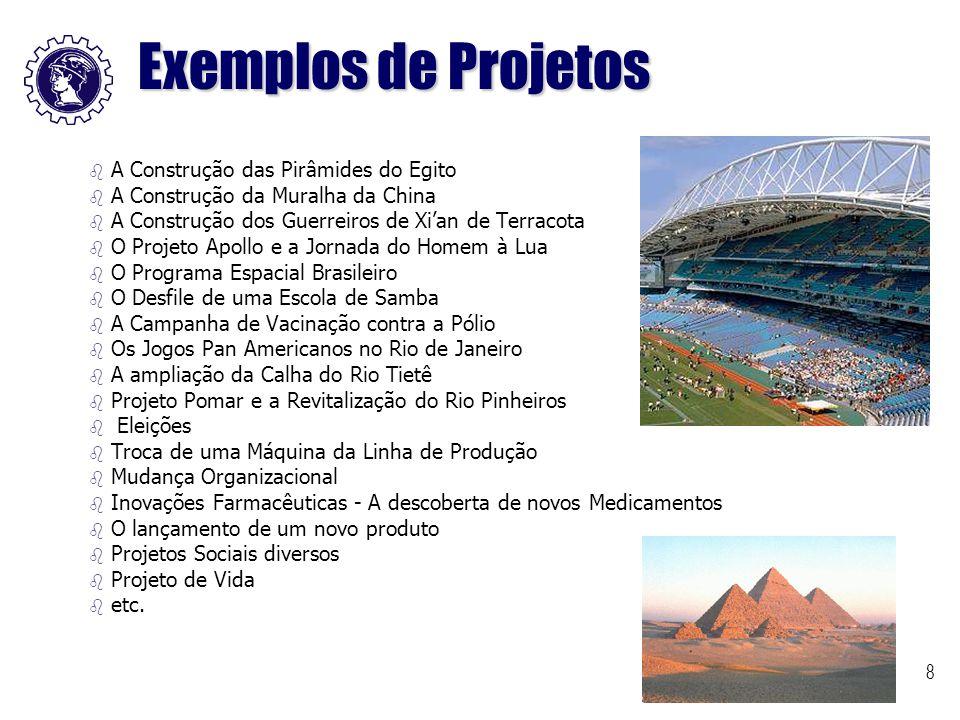 8 b b A Construção das Pirâmides do Egito b b A Construção da Muralha da China b b A Construção dos Guerreiros de Xi'an de Terracota b b O Projeto Apo