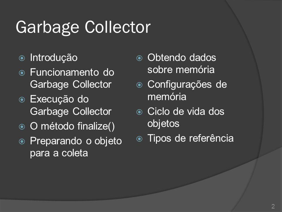 Introdução  Exploraremos aqui alguns aspectos da linguagem de programação Java quanto à utilização da memória do computador.
