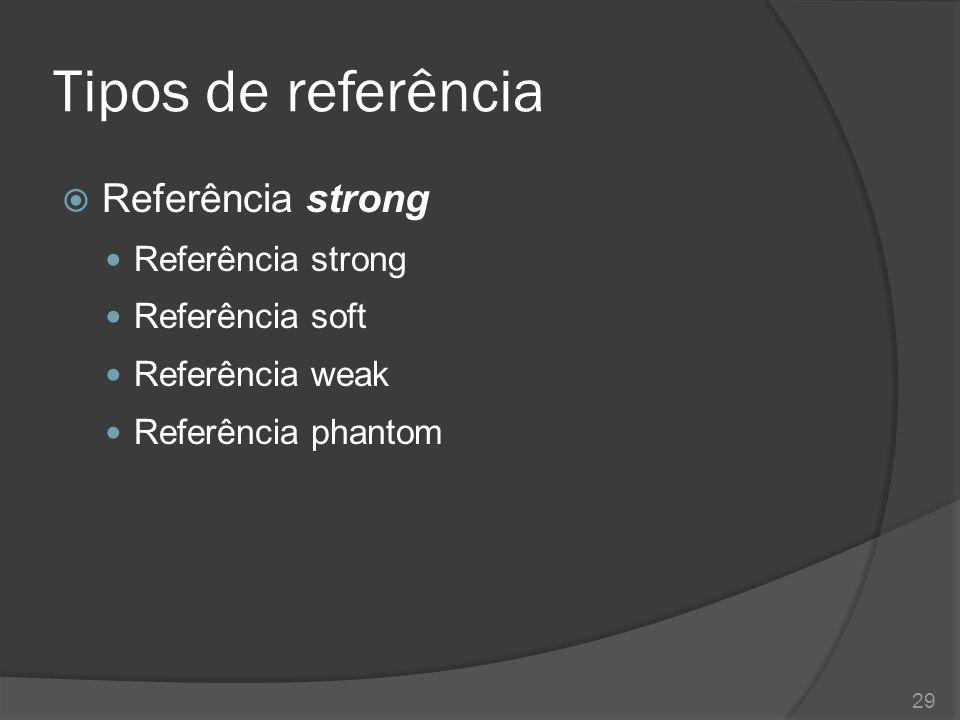 Tipos de referência  Até o momento temos utilizado variáveis comuns para referenciar objetos em memória.