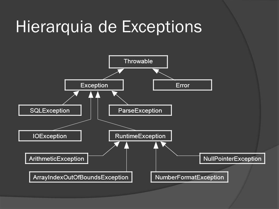 Principais exceções 7