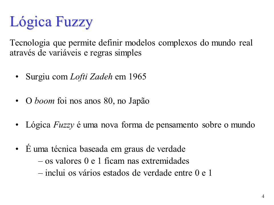 15 Variáveis Linguísticas São o centro da técnica de modelagem dos sistemas fuzzy Uma variável linguística é o nome do conjunto fuzzy Pode ser usado num sistema baseado em regras para tomada de decisão Exemplo if projecto.duração is LONGO then risco is maior Transmitem o conceito de qualificadores Qualificadores mudam a forma do conjunto fuzzy