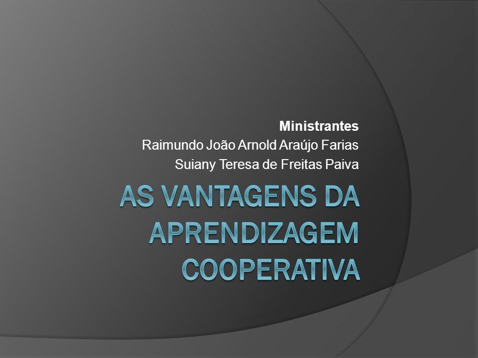 Ministrantes Raimundo João Arnold Araújo Farias Suiany Teresa de Freitas Paiva