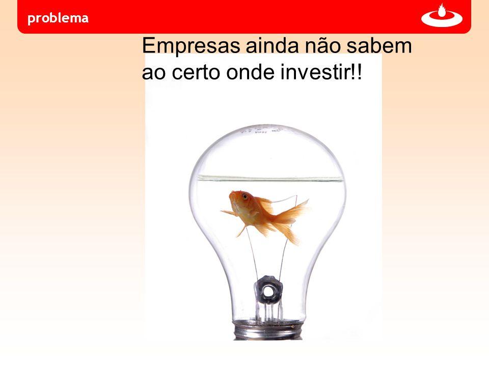 problema Empresas ainda não sabem ao certo onde investir!!