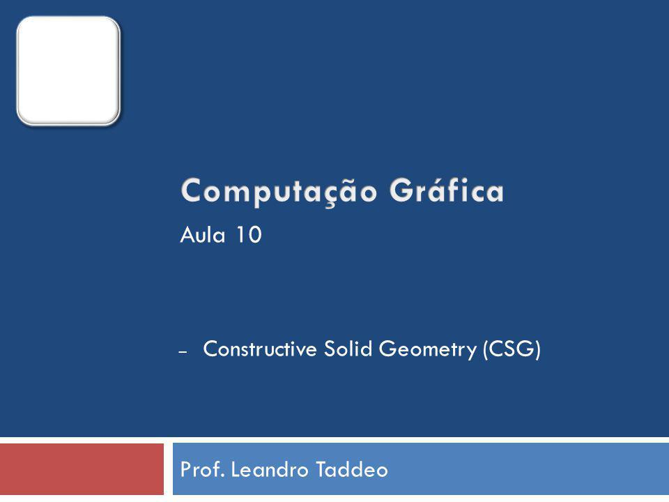 Prof. Leandro Taddeo – Constructive Solid Geometry (CSG) Aula 10