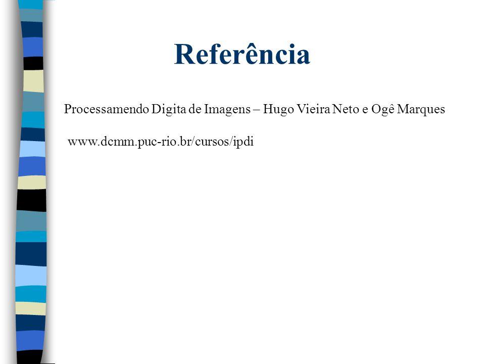 Referência Processamendo Digita de Imagens – Hugo Vieira Neto e Ogê Marques www.dcmm.puc-rio.br/cursos/ipdi