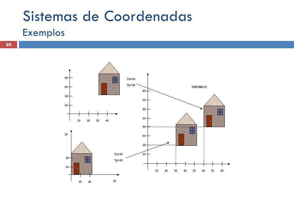 Exemplos 20 Sistemas de Coordenadas