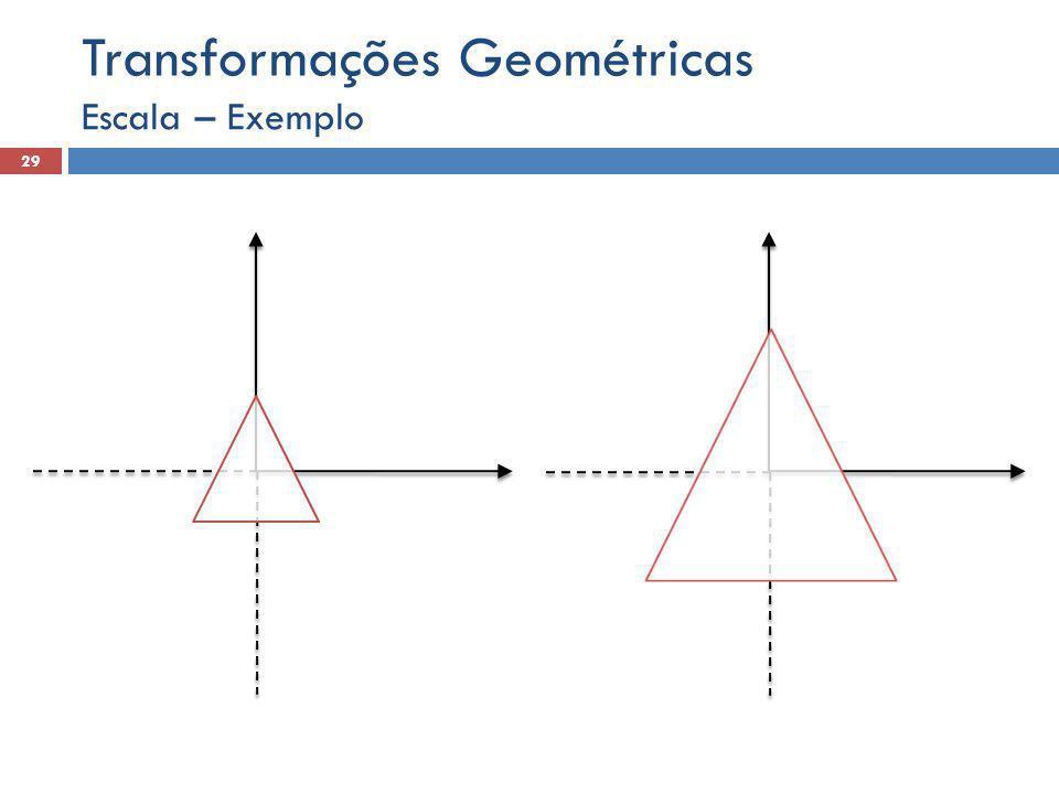Escala – Exemplo 29 Transformações Geométricas