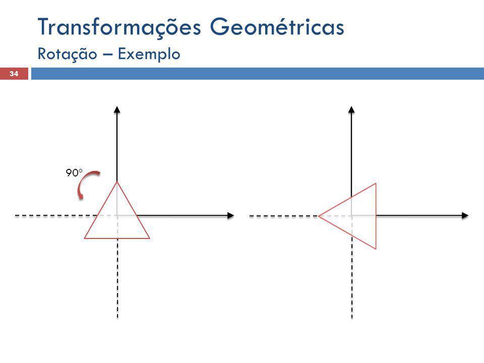 Rotação – Exemplo 34 Transformações Geométricas 90º