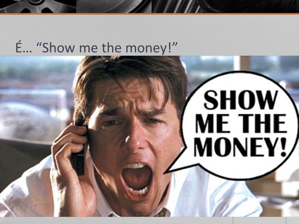 """É… """"Show me the money!"""" Investimento Ação Reação Impacto não- financeiro IMPACTO FINANCEIRO"""