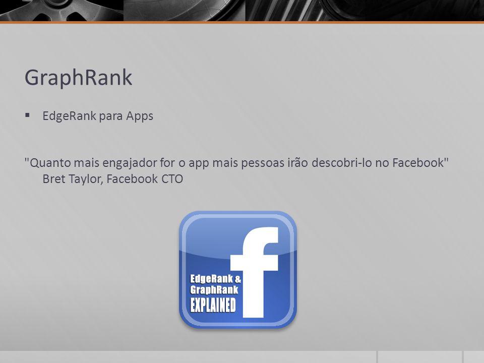 GraphRank  EdgeRank para Apps