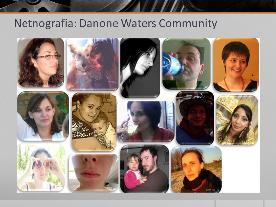 Netnografia: Danone Waters Community