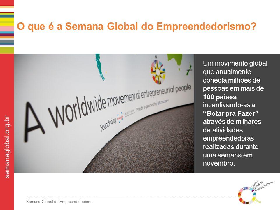 Semana Global do Empreendedorismo semanaglobal.org.br O que é a Semana Global do Empreendedorismo.