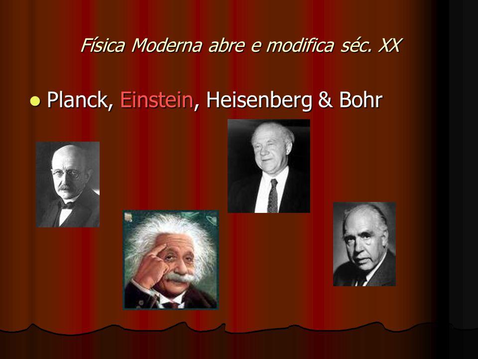 Física Moderna abre e modifica séc.