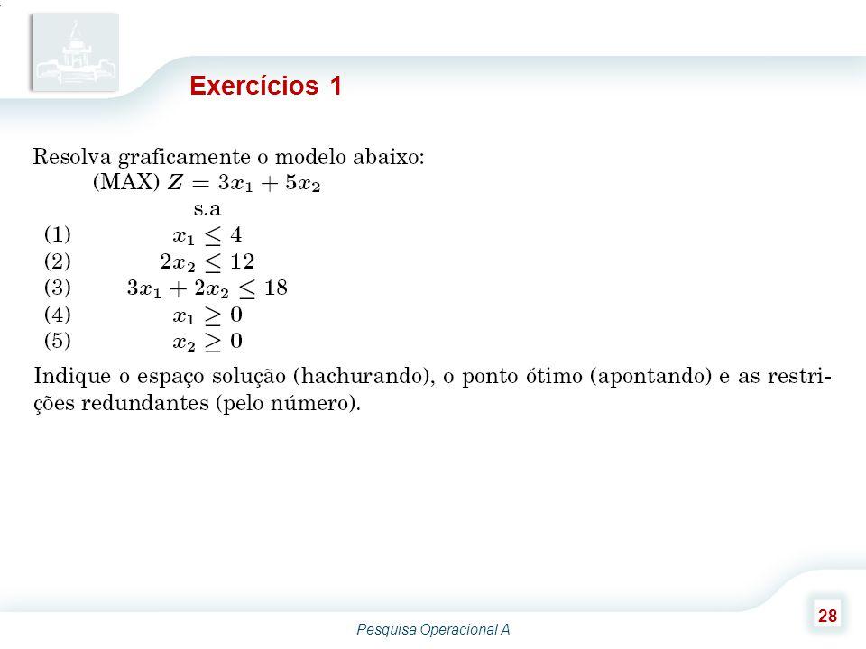 Pesquisa Operacional A 28 Exercícios 1