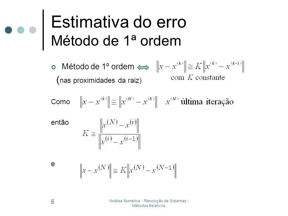 6 Exercício TP7 Método de Jacobi Critério de paragem x (1) x (2) … x (4) … x (7) … x (11) … x (14) 20.42539…1.118710.979148 0.99842… 1.0000437 -1.5555…-2.9841…-3.0406-3.02644-3.0013…-2.999757 4.71428…4.55555…3.84254.00266 4.00069… 4.000133 4.81.60.400.048 0.41  10 -2 0.38  10 -3 (solução exacta x T =(1,-3,4))